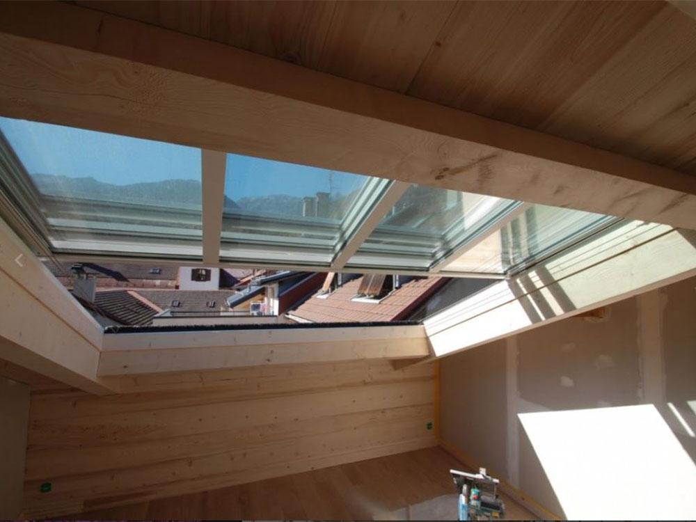 Ouverture de combles avec un toit mobile électrique  TOITEL