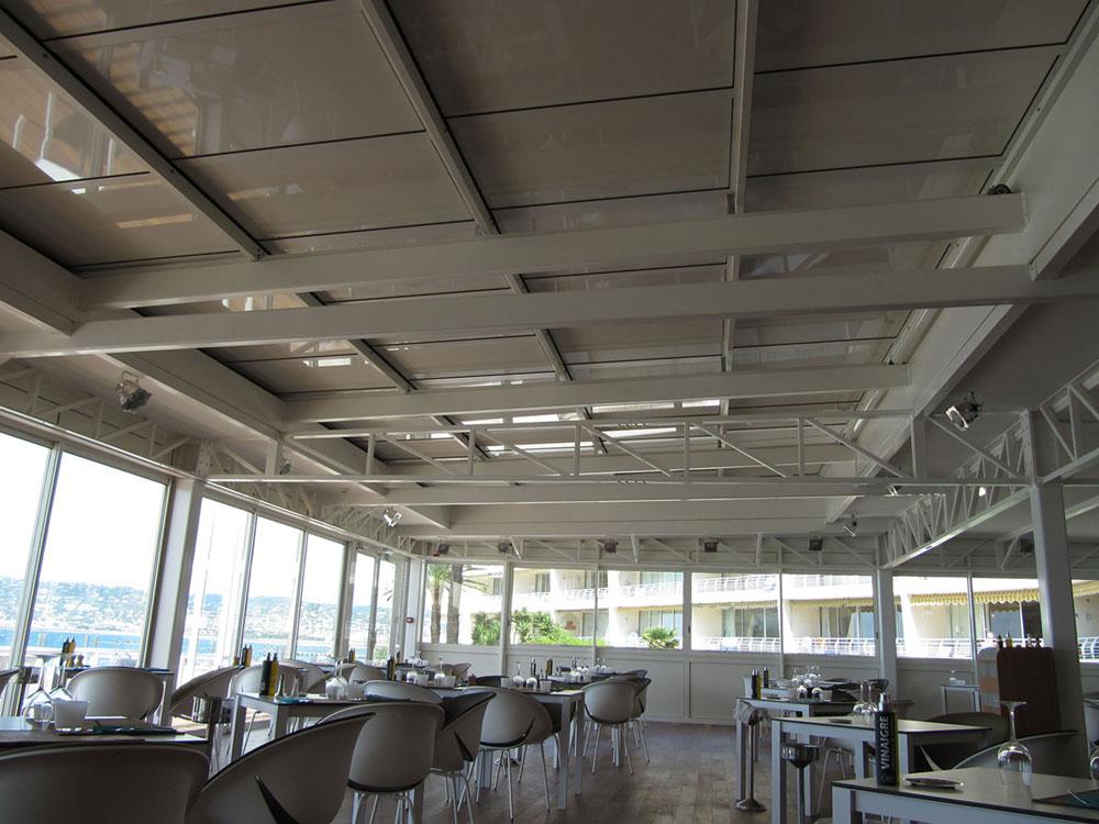 Couverture de grande surface, par une toiture escamotable - TOITEL