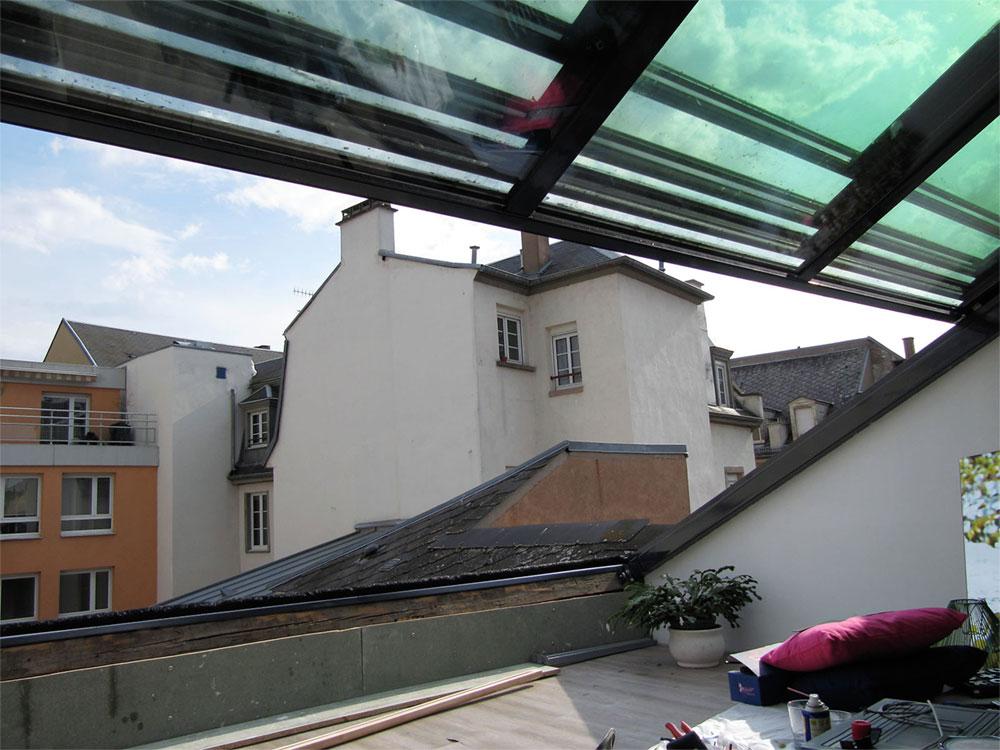 Verrière coulissante pour toiture maison ou immeuble- TOITEL