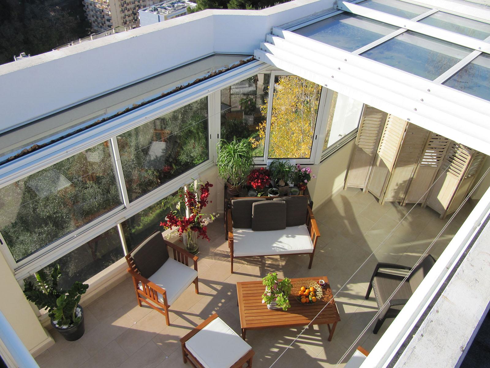veranda retractable à toiture mobile electrique TOITEL