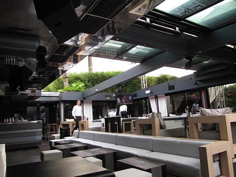 BAOLI (Cannes), Toiture coulissante sur la terrasse du restaurant - TOITEL