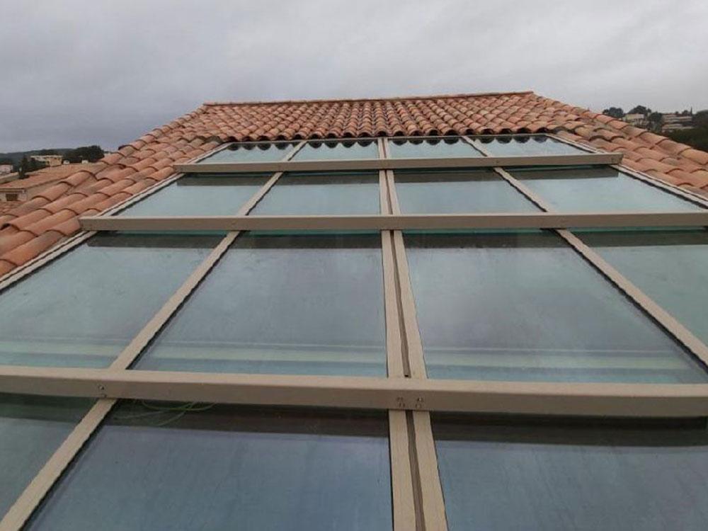 Terrasse avec un toit ouvrant - TOITEL