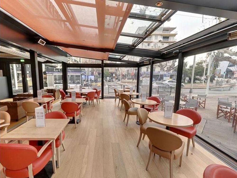 Verrière coulissante sur véranda, NEW YORK- NEW YORK (Cannes) - TOITEL