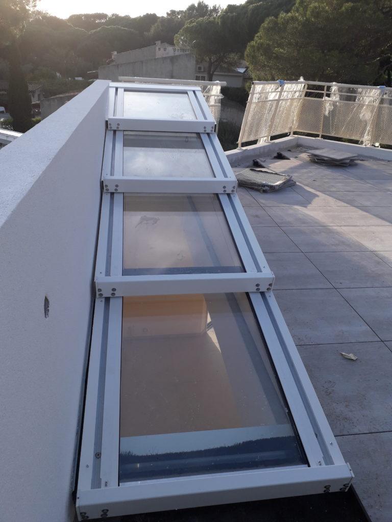 Edicule escalier accès terrasse par toiture ouvrante - 1