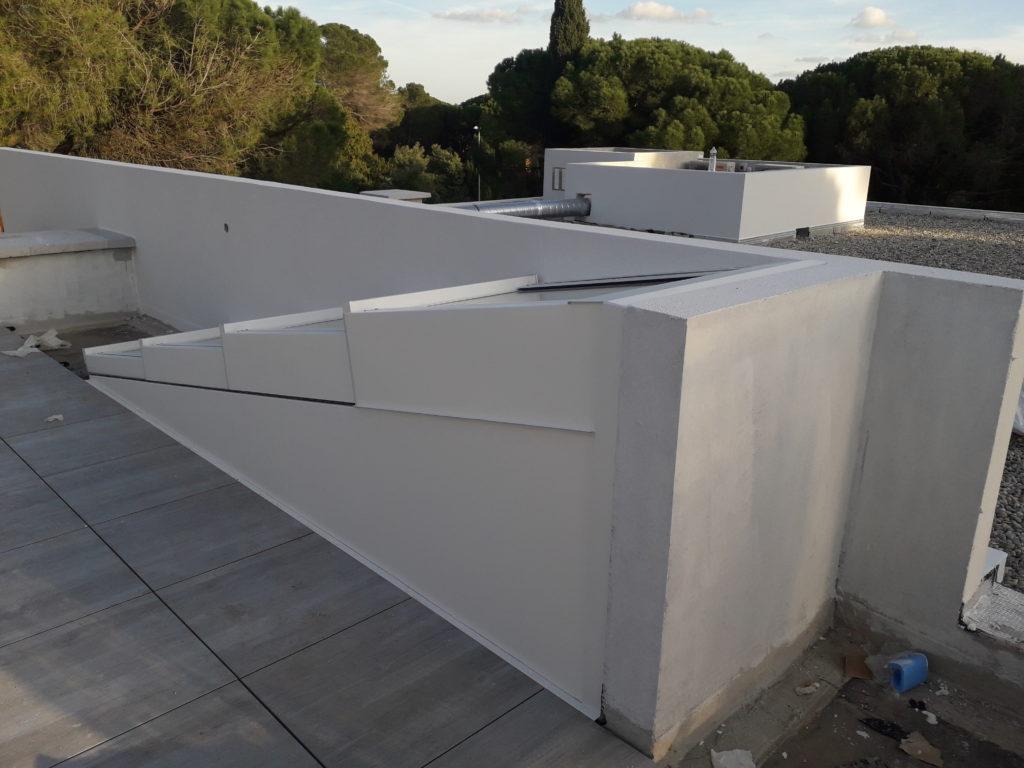 Edicule escalier accès terrasse par toiture ouvrante - 5